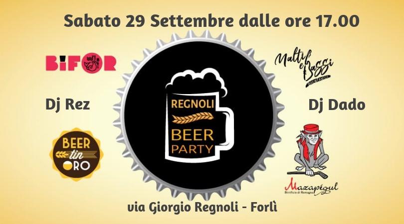 REGNOLI BEER PARTY